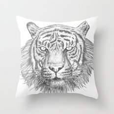 The Tiger's head Throw Pillow