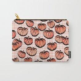 Pumpkin Patch Plaid Carry-All Pouch