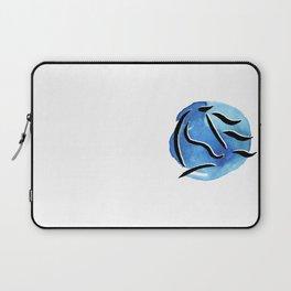 Spirit Horse {Blue Watercolor} Laptop Sleeve