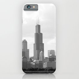 Chicago Skyline Black and White iPhone Case