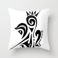 crown Throw Pillows featuring Crown by Dror Designs