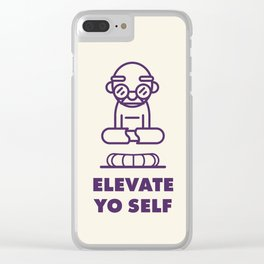 Elevate Yo Self Clear iPhone Case