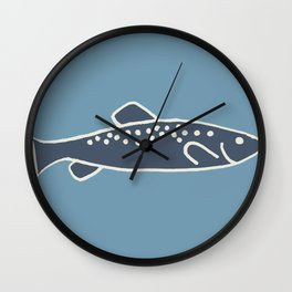 Swimming with the fishies Wall Clock