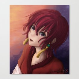 Yona in the blush of dawn Canvas Print
