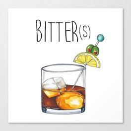 """""""I Like My Cocktails Like I Like My Worldview"""" Canvas Print"""