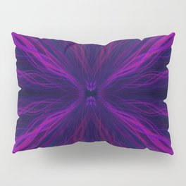 Purple light trails pattern Pillow Sham