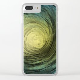 Ethereal Spiral Clear iPhone Case