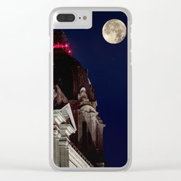 October Super Moon Clear iPhone Case