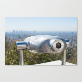 Coin operated telescope at the Griffith Observatory Canvas Print
