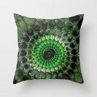 irish Throw Pillows featuring Irish Moss by ACKelly