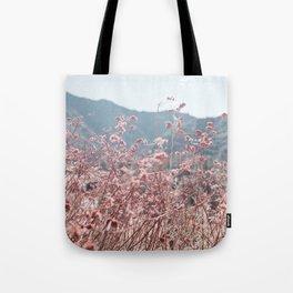California Pink Flowers Tote Bag