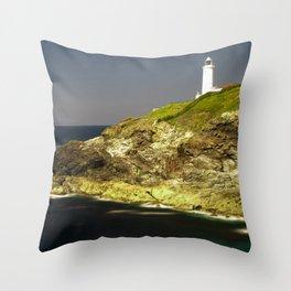 Trevose Head Lighthouse, Cornwall, United Kingdom Throw Pillow