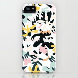 Colorful Matisse inspired pattern iPhone Case