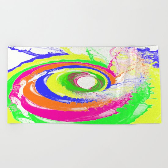 Whirlpool of Colour Beach Towel
