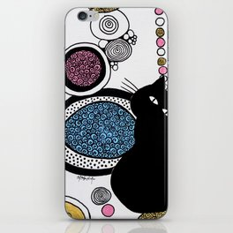 In The Place of Pink and Gold iPhone Skin