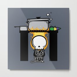 Part Time Job - Restaurant Kitchen Metal Print