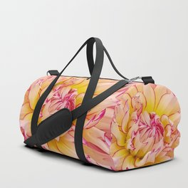 Pink Dahlia with Bright Pink tips Close Up Detail Duffle Bag