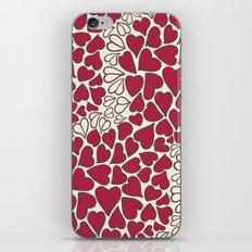 HEARTS  ~  CRIMSON & CLEAR iPhone & iPod Skin