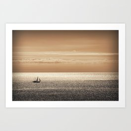 Somewhere beyond the sea Art Print