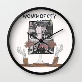 Women of city White Wall Clock