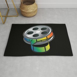 Film reel with colorful tape Rug