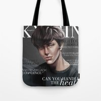 snk Tote Bags featuring SnK Magazine: Bertolt by emametlo