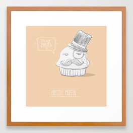 british muffin Framed Art Print
