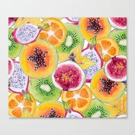 Tutti Frutti summer delight Canvas Print