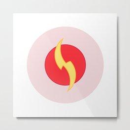The geometric flash logo Metal Print