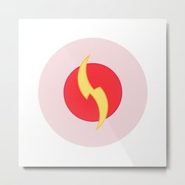 The geometric flash logo Metal Print