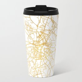 DUBLIN IRELAND CITY STREET MAP ART Travel Mug