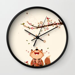 Le bon air du printemps Wall Clock