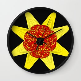 Golden Flower Of Missiles Wall Clock