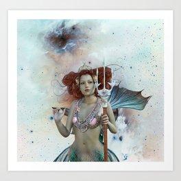 Space Siren: Mermaids of the Sky Art Print