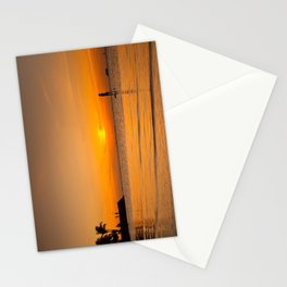 Sunset paddleboarding Stationery Cards