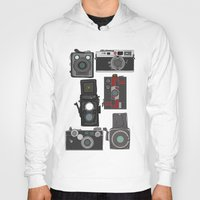 cameras Hoodies featuring Cameras by Illustrated by Jenny