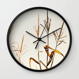 Corn Field 12 Wall Clock