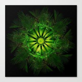 The Majesty Palm Light Flower Canvas Print