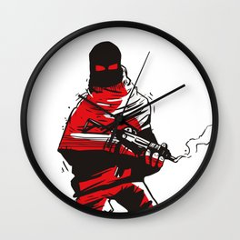 Death wears a track suit Wall Clock