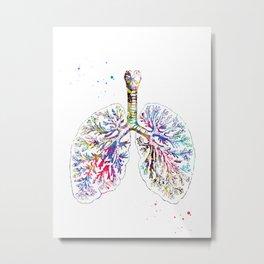 Anatomical Lungs Metal Print