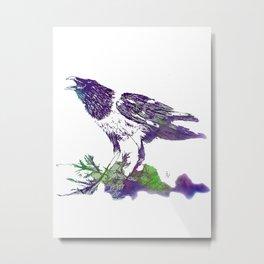 African Crow - Ria Loader Metal Print