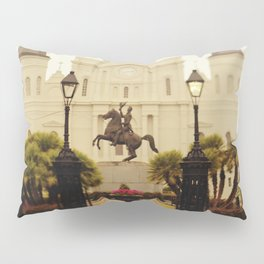 New Orleans Looking Through Jackson Square Pillow Sham