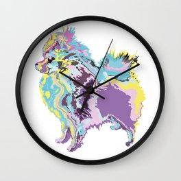 Mighty Puppy Pomeranian Wall Clock