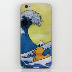 MOUNT FUJI VS RUBBER DUCK iPhone Skin