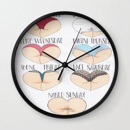 Booty Week Wall Clock