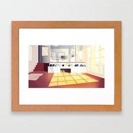 Childhood Living Room Framed Art Print