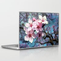 cherry blossoms Laptop & iPad Skins featuring Cherry Blossoms by Nadine May