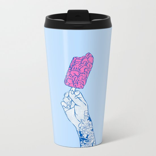 Brain ice cream! mmmmm Metal Travel Mug