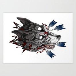 Big bad werewolf Art Print
