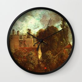 """John Constable """"The Grove, or the Admiral's House in Hampstead"""" Wall Clock"""